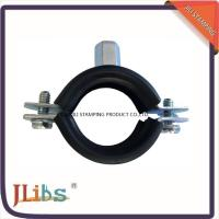 Cheap Galvanized Carbon Steel Cast Iron Pipe Clamps With EPDM And M8 + 10 Welding Nut for sale