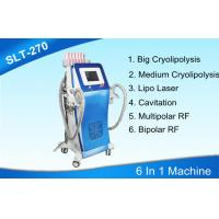 6 In 1 Cryolipolysis Body Slimming Machine With Cavitation / Radio Frequency / Lipo Laser Manufactures
