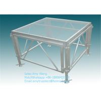 China Plywood Board Aluminum Dance Floor Glass Board With Adjustable Folding Stage on sale