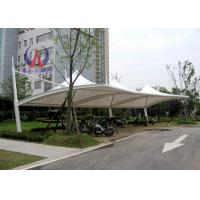 China PDFE Parking Tensile Structure Driveway Car Canopy Tents , Car Awning Shelter With Membrane Sail on sale