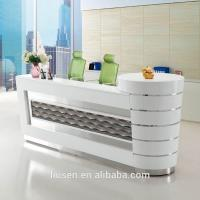 China Superior quality commercial furniture white curved beauty salon reception desks on sale