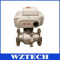 WCB 2 Way Motorized Ball Valve, Remote Control Flange Valve With RS485/M-bus Manufactures