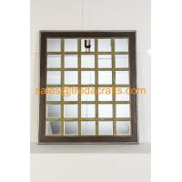 China supplier mordern design grid shape wood frame wall mirror for home decor Manufactures