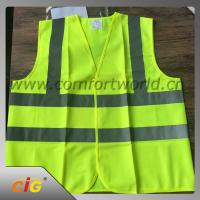 100% Polyester Geen Reflective Safety Vests With Tricot Fabric Design Manufactures