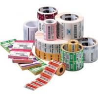 Waterproof PVC Self Adhesive Labels Roll , Pantone Color Direct Thermal Labels Manufactures