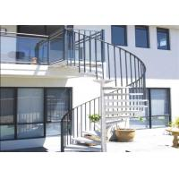 Customized Metal Custom Spiral Staircase Usage Indoor With Wood Material Step Manufactures