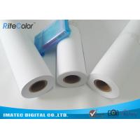 "42"" / 44"" Matte Coated Inkjet Paper Rolls Wide Format Printing Anti Fading Manufactures"