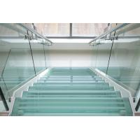 China tempered glass for curved internal stairs hand rails as well as for balcony handrails on sale