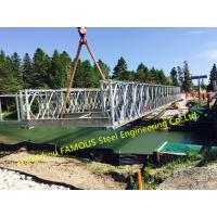 Army Portable Steel Bailey Bridge Painted Or Hot Dip Surface Treat Earthquake Heavy Snow Bearing Manufactures
