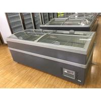 220 V 50hz Top Glass Sliding Door Deep Chest Freezer For Dairy Products Manufactures