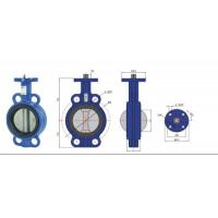 high temperature Stainless Steel  Wafer Type Headless Butterfly Valve With Back Seat Manufactures