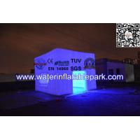 Attractive Rent Wedding Tent Lighting LED Structure / Inflatable Cube Tent Manufactures