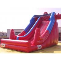 Red Color PVC Inflatable Water Slide With Pool In Front Of / Spiderman Slides For kids Manufactures