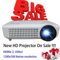 Newest 2015 White Color Video LCD Home Theater Projector With HDMI USB Proyector Beamer Manufactures