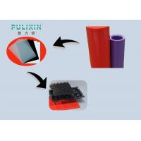 Red Purple 0.3mm Transparent Plastic Sheet Roll , Low Density Polyethylene Sheet Manufactures