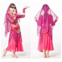 Solid Chiffon Childrens Kids Belly Dance Practice Costumes With Long Sleeve Manufactures