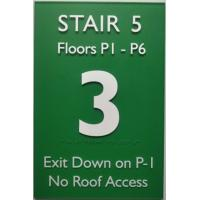 """1/4"""" Acrylic Panel Custom Braille Signs 12""""X18"""" Grade II Tactile Text And Graphic Manufactures"""