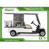 China 2 Passenger Electric Food Cart For Park Services White Food Golf Cart on sale
