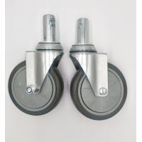 Carts 5 Inch Caster Wheels , Shelf Metal Food Service Equipment Casters Manufactures