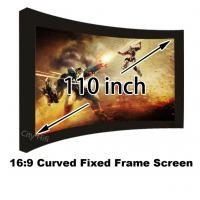 """High Brightness 110"""" Arc Fixed Frame Wall Mounting Cinema Projection Screen 16:9 Format Manufactures"""