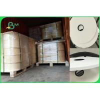 White Food Grade Wrapping Cigarette Paper Roll For Straw 28gsm FDA SGS FSC Manufactures