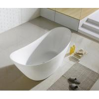 Deep Soaking Stand Alone Tub In Small Bathroom , 60 X 30  60 X 32 60 X 36 Resin Freestanding Tubs Manufactures