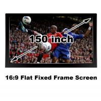 Black Velevt Flat Fixed Projection Screen150 Inch Matt White DIY Home Cinema Screens 3D Manufactures