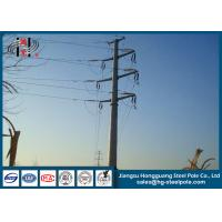 Cheap 110KV Steel Tubular Pole , Double Circuit Transmission Line Electric Poles for sale