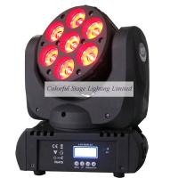 Best selling 7x12W OSRAM RGBW 4in1 Beam LED Moving Head Stage Lighting Manufactures