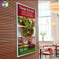 Silver Acrylic Snap Frame Led Light Box With Menu Display , Restaurant Advertising Manufactures