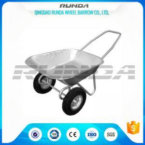 Buy cheap Tubular Steel Axle Heavy Duty Wheelbarrow , Dual Wheel Wheelbarrow80kg Load from wholesalers