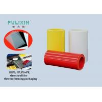Glossy Permanent Anti static Polystyrene Plastic Sheet Roll , Heat Resistant Manufactures