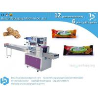 China Best Price Pillow Type Flow Pasta Wrap Equipment Automatic Bread Packing Machine Cheese Granola Chocolate Bar Packaging on sale