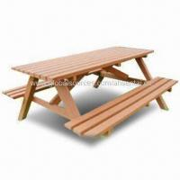 WPC Outdoor Picnic Table, 100% recyclable, Available in Various Colors Manufactures