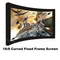 Best Selling 110 Inch Arc-shaped Fixed Frame Front Projection Screens Ultra HD 4K Display Manufactures
