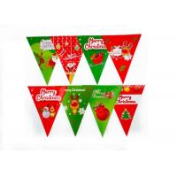 Christmas Pennant String Flags Heat Tranfer Printing UV Protection OEM Offered Manufactures