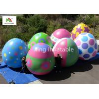 Custom Easter Egg Balloons Inflatable Advertising Products With Digital Printing Manufactures