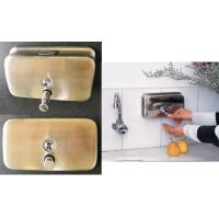 Vertical / Horizontal Stainless Steel Wall Soap Dispenser 1200ml With Brass Pump Manufactures