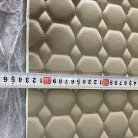 30d 6mm Foam 150cm Width Embroidery PVC Artificial Leather Manufactures