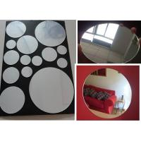 China 3mm Round Eco-Friendly Mirror Acrylic Sheet By Laser Cutting For Indoor Home Decoration on sale