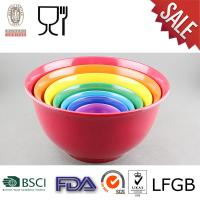 China Plastic Mixing Bowl Set with Solid color on sale
