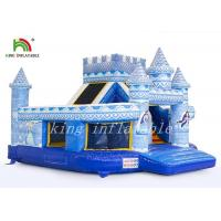 Durable PVC Palace Castle Inflatable Jumping Castle Combo Slide Digital Printed Manufactures