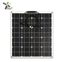 PET Surface 50W Curved Solar Panels ETFE Integrated Lamination Ultra - Thin Film Manufactures