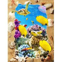 5d Deep Effect Ocean Feature Images Custom Lenticular Printing For Office / Hotel Decoration Manufactures