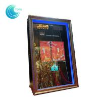 Led open air wedding photo booth 3d mirror selfie photo booth Manufactures