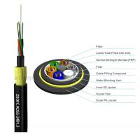 Double Jacket Self Supporting Fiber Optic Cable , Outdoor Dielectric Fiber Cable Manufactures