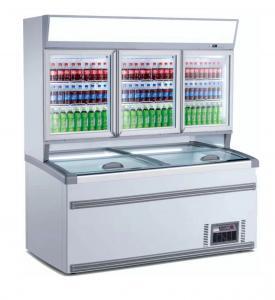 Dual Temperature Upright Combination Freezer With Top Sliding Door Manufactures