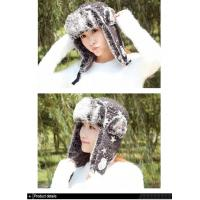 2017 new product fashion winter trapper faux fur leather Bomber Avaitor hat with stars