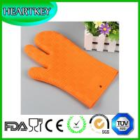 Silicone Non Slip Silicone and Cotton Oven Mitt Insulated Silicone Glove Use For Oven Microwave Oven And Grill Manufactures