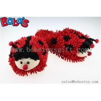 Soft Girl Indoor Slipper Red Ladybug Home Slippers Manufactures